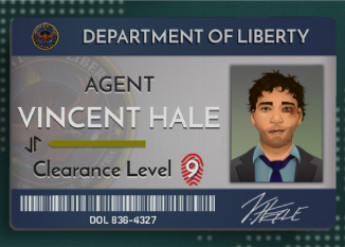 Need to Know game screenshot of Department of Liberty ID card