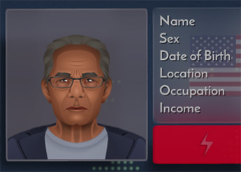 Need to Know game screenshot of a Department of Liberty profile
